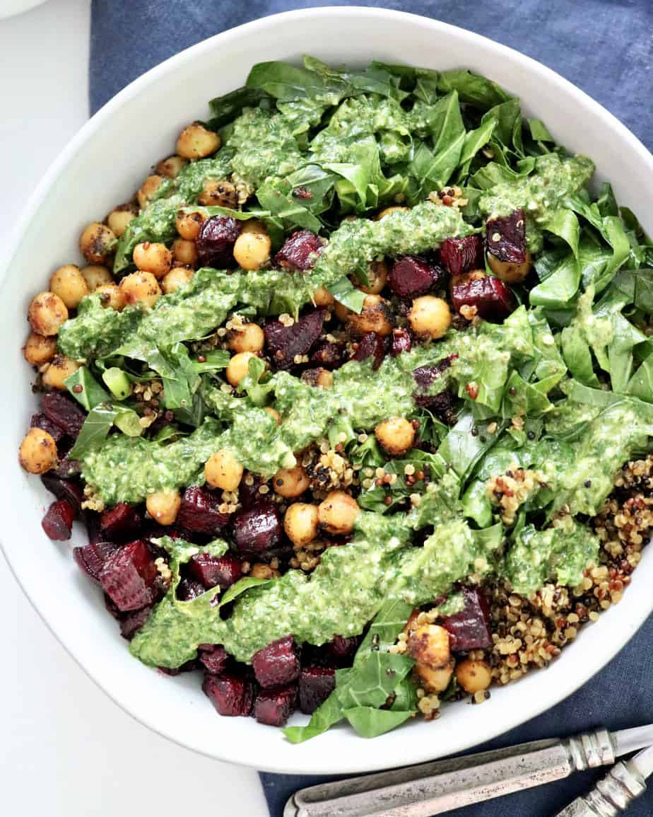 Chickpeas and Greens Buddha Bowl