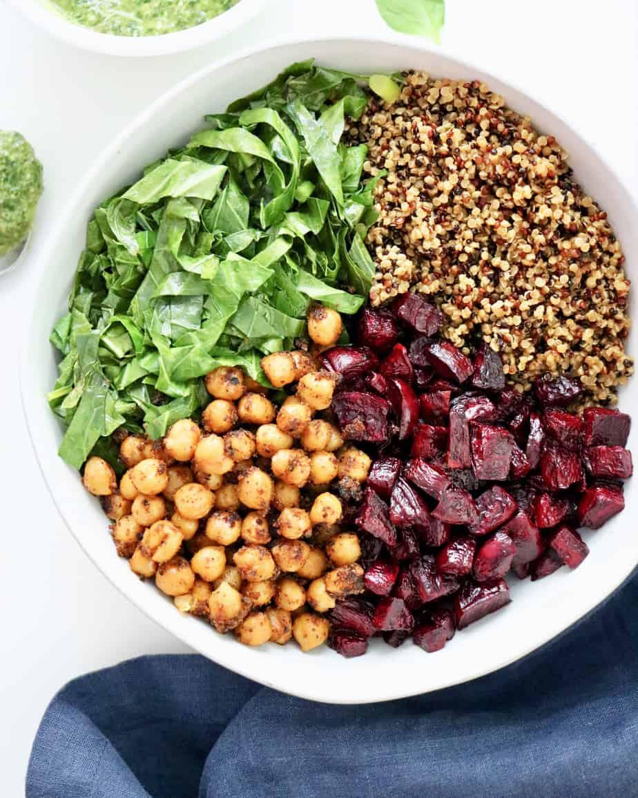 Ingredients for buddha bowl