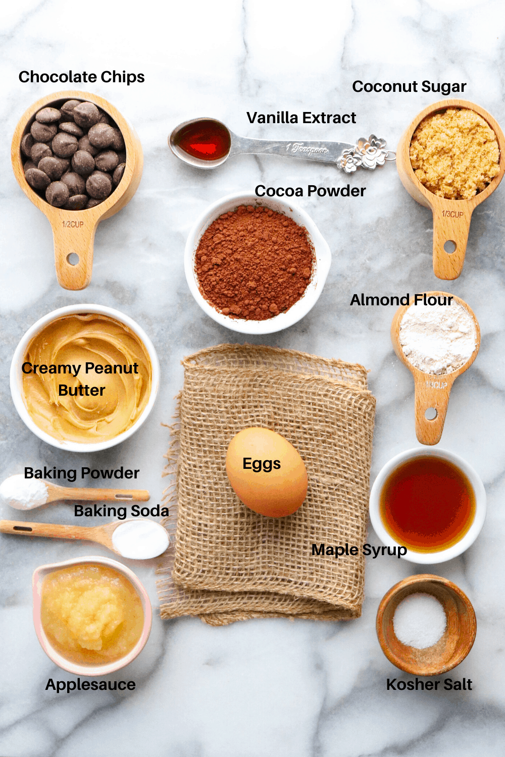 Healthy Fudgy Brownie Ingredients
