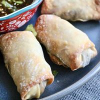 Veggie egg rolls with dipping sauce