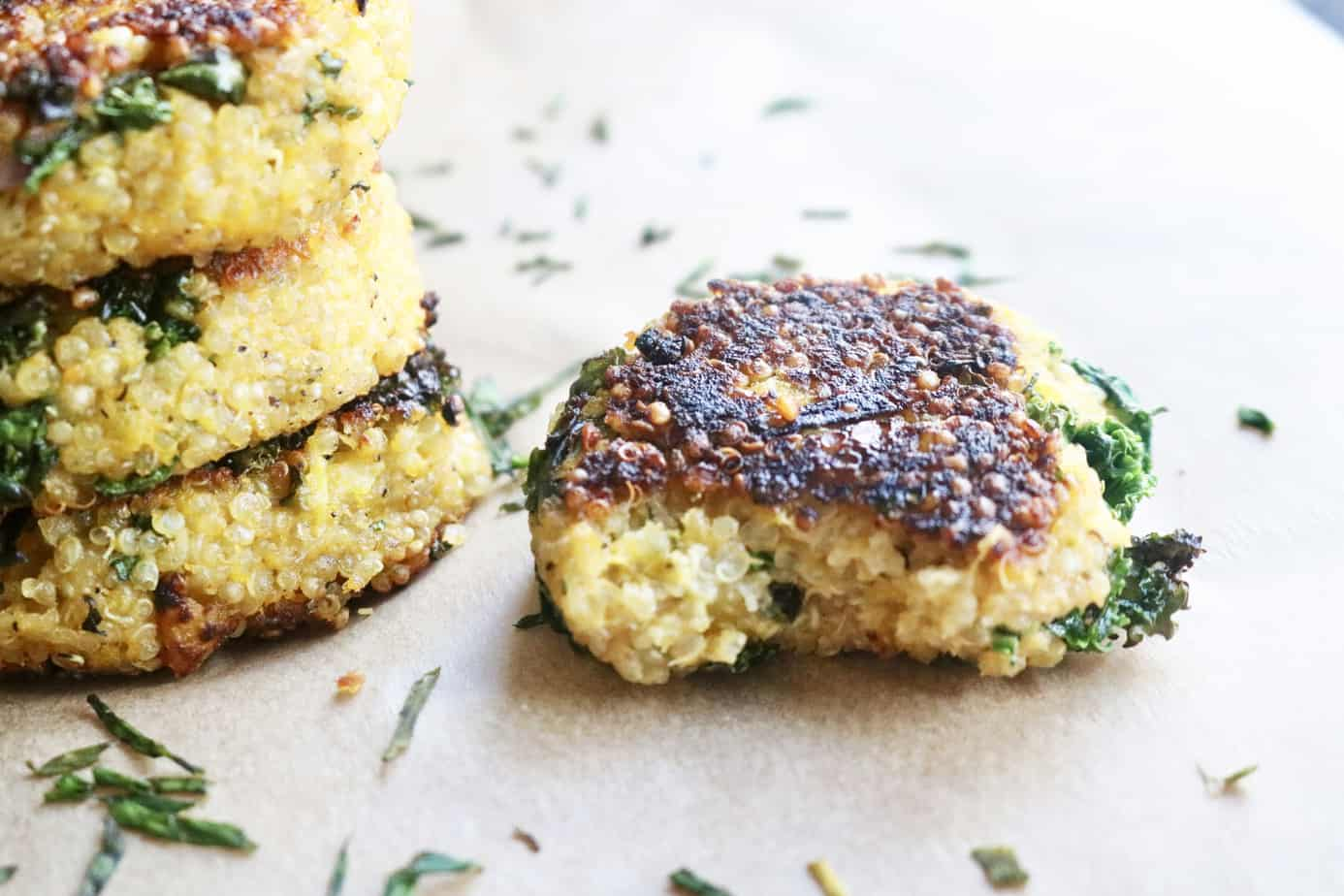 Quinoa patties with a bite