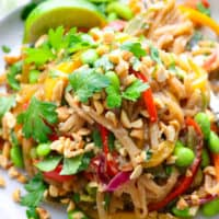 Easy Vegetarian Pad Thai