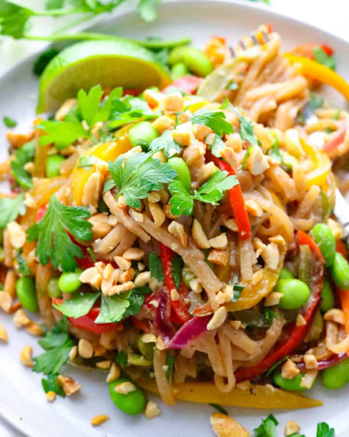 Easy Vegetarian Pad Thai