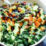 Sweet-potato-with-beans-and-greens