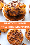 Pumpkin muffins with mini chocolate chips
