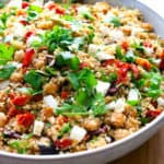 Mediterranean Cauliflower Rice in a bowl