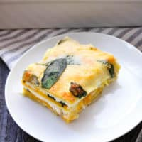 Healthy Butternut Squash Lasagna With Spinach