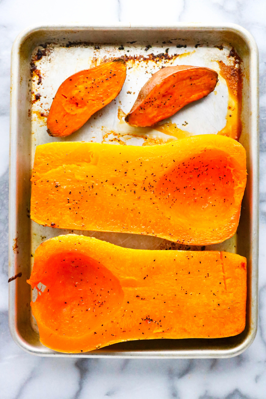 Roasted squash and sweet potato