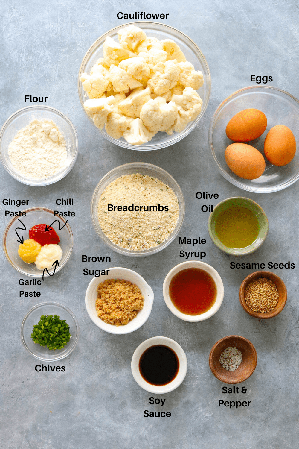 Cauliflower Wing Ingredients
