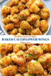 Healthy Sweet & Spicy Baked Cauliflower Wings