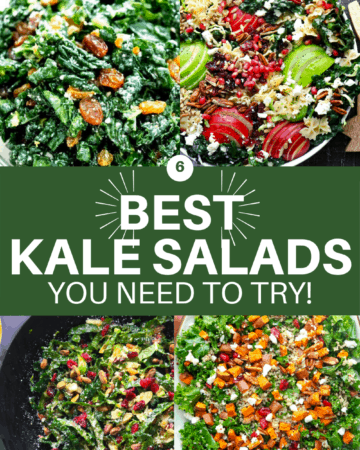 Kale salad collage