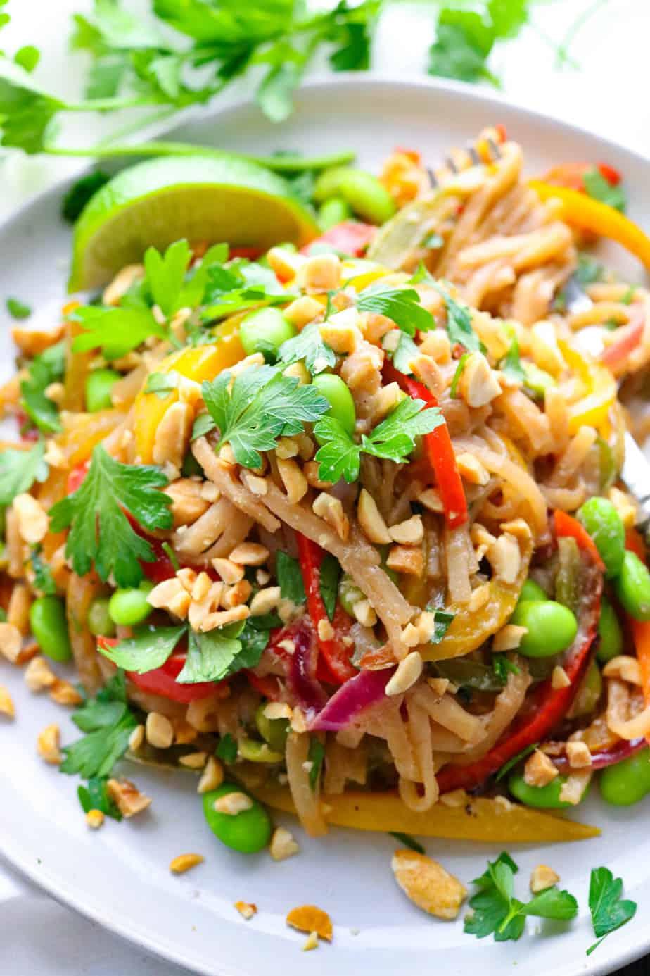Easy Vegetarian Pad Thai Pinch Me Good