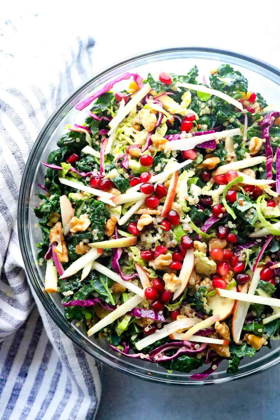 Autumn Chopped Kale Salad With Quinoa Pinch Me Good